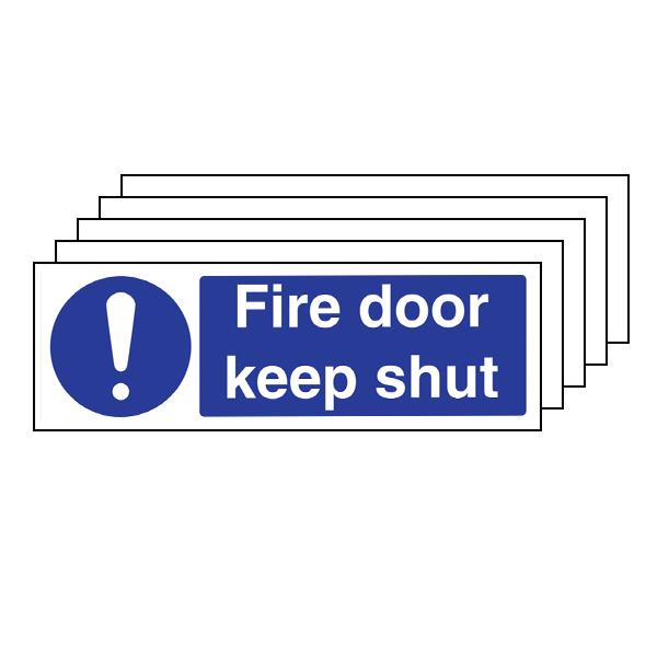 5PK - Fire Door Keep Shut - Landscape