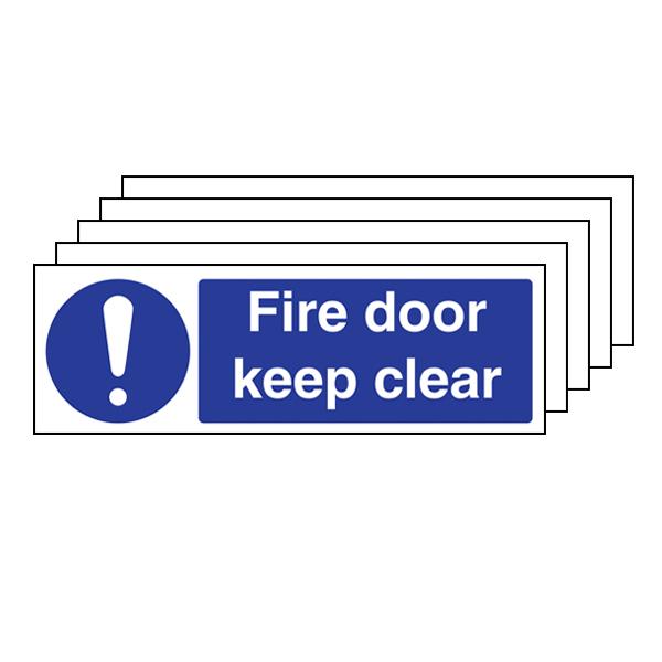 5PK - Fire Door Keep Clear - Landscape