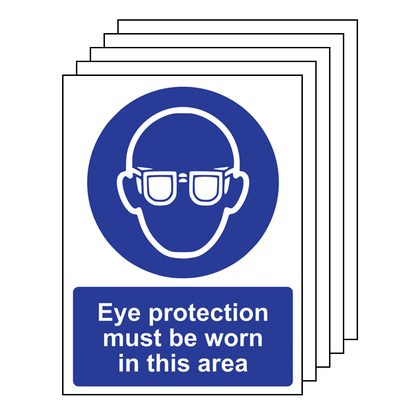 5PK - Eye Protection Must Be Worn In This Area - Portrait