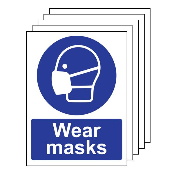 5PK - Wear Masks