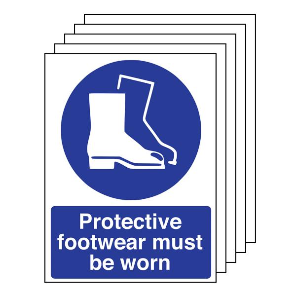 5PK - Protective Footwear Must Be Worn - Portrait