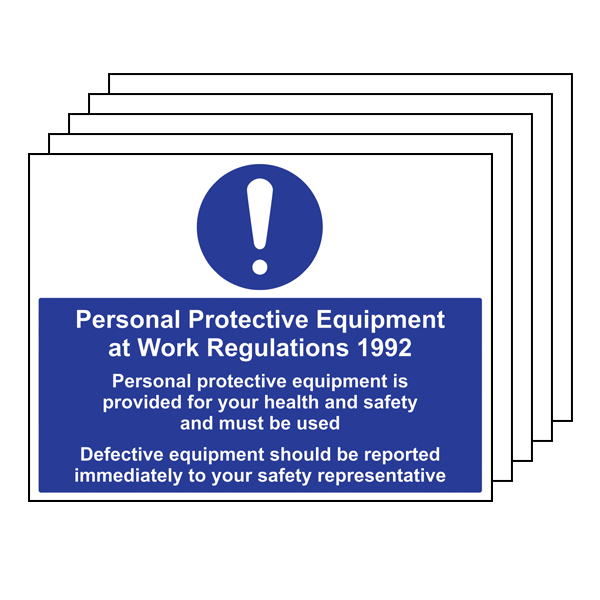 5PK - PPE Work Regulations 1992 Must Be Used