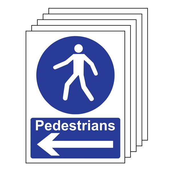 5PK - Pedestrians - Arrow Left