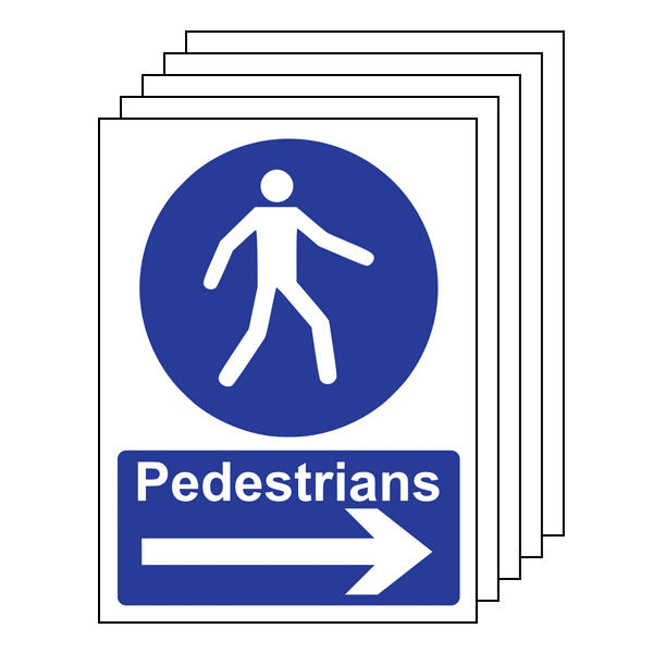 5PK - Pedestrians - Arrow Right