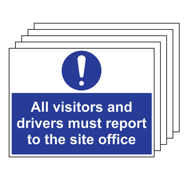 5PK - Visitors And Drivers Report To Site Office