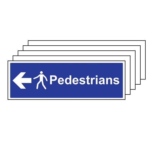 5PK - Pedestrians - Arrow Left - Large Landscape