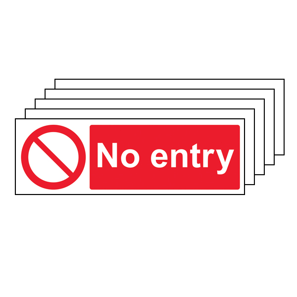 5PK - No Entry - Landscape