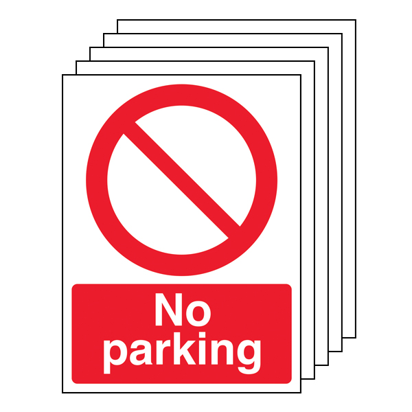 5PK - No Parking - Portrait