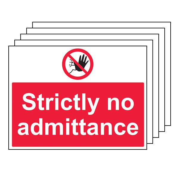 5PK - Strictly No Admittance - Large Landscape