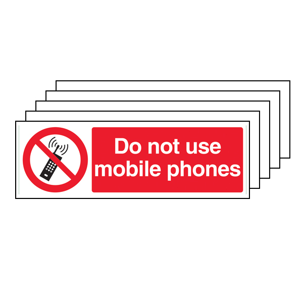 5PK - Do Not Use Mobile Phones - Landscape