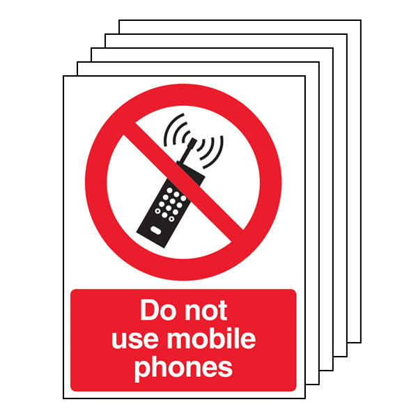 5PK - Do Not Use Mobile Phones - Portrait