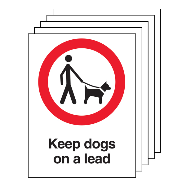 5PK - Keep Dogs On A Lead