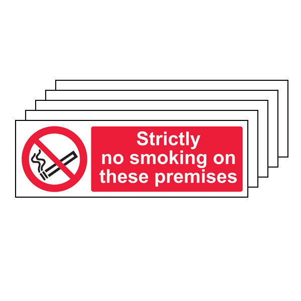 5PK - Strictly No Smoking On These Premises - Landscape