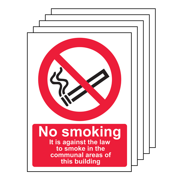 5PK - No Smoking In Communal Area - Portrait