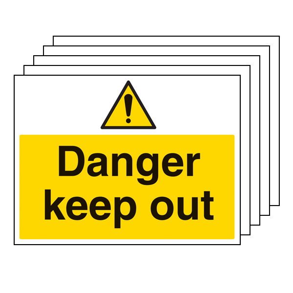 5PK - Danger Keep Out - Large Landscape