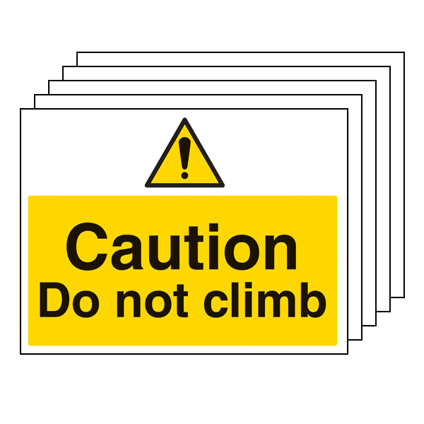 5PK - Caution Do Not Climb - Large Landscape