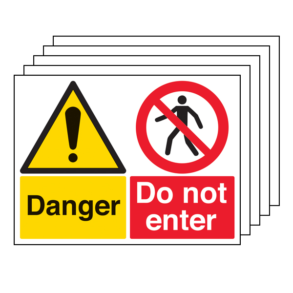 5PK - Danger/Do Not Enter - Large Landscape