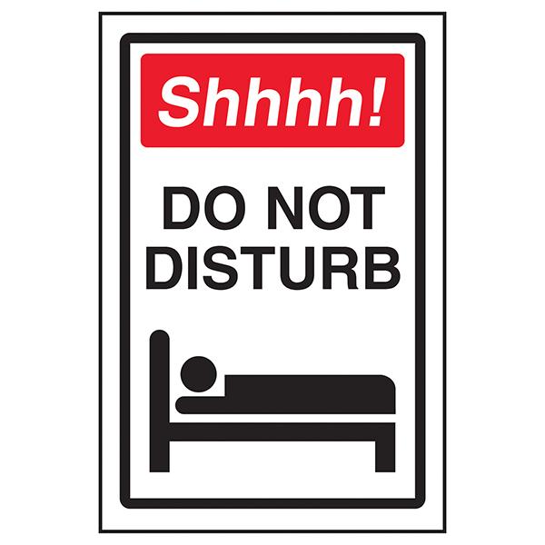 Shhhh! Do Not Disturb