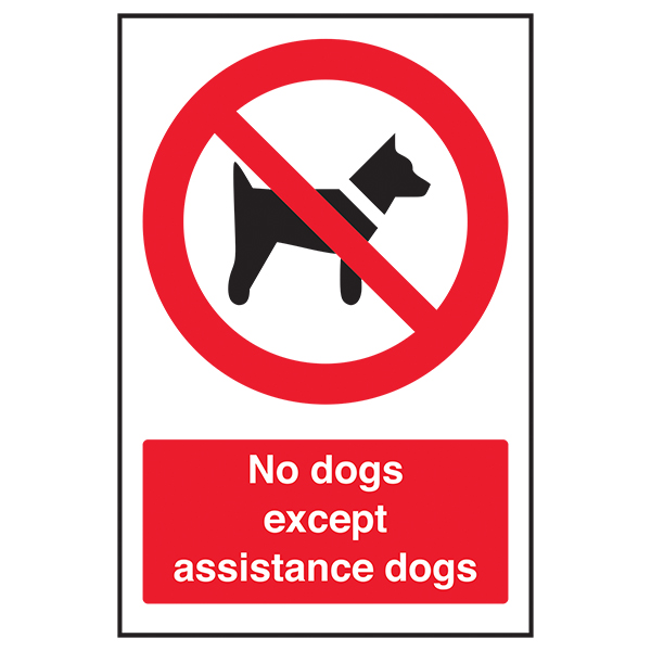 No Dogs Except Assistance Dogs
