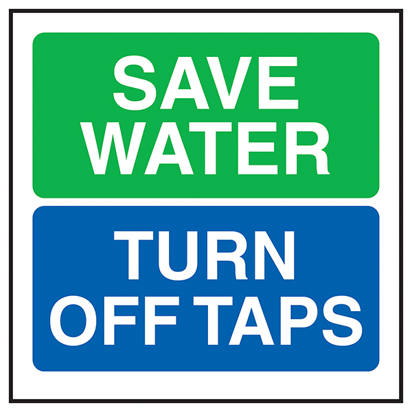 Save Water Turn Off Taps