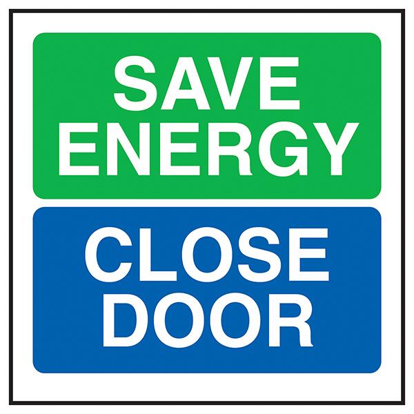Save Energy Close Door
