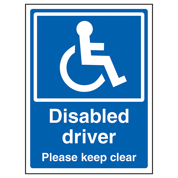 Disabled Driver Please Keep Clear