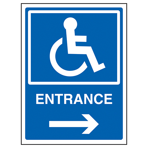 Disabled Entrance Arrow Right