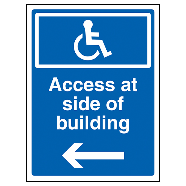Access At Side Of Building Arrow Left