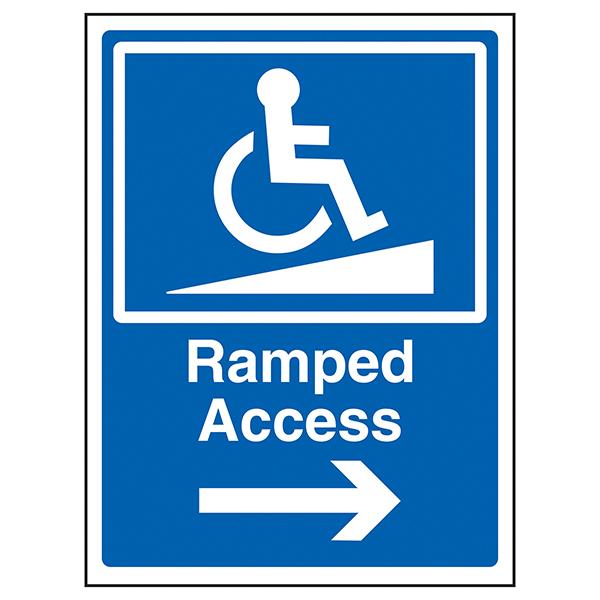 Ramped Access Arrow Right