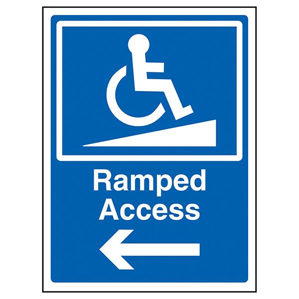Ramped Access Arrow Left