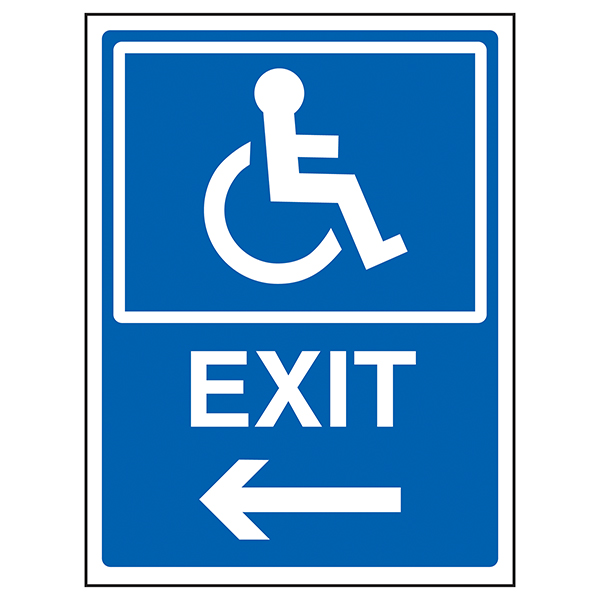 Disabled Exit Arrow Left