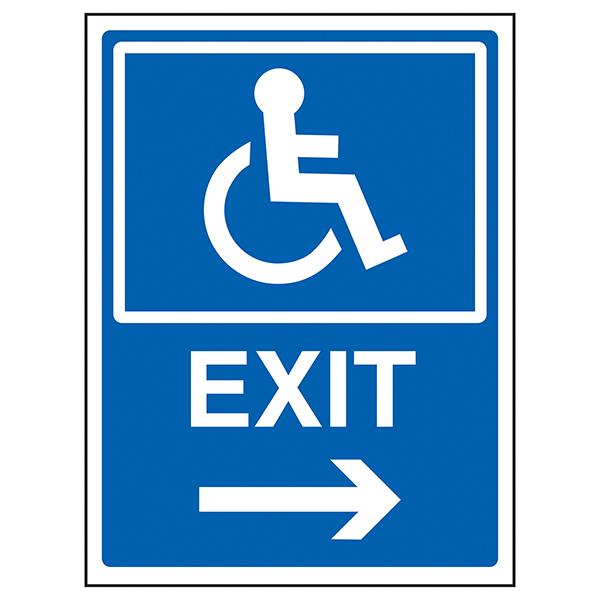 Disabled Exit Arrow Right