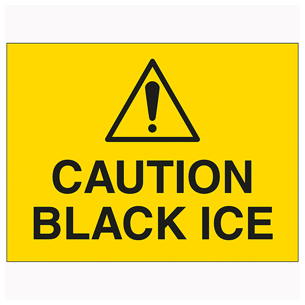 Caution Black Ice