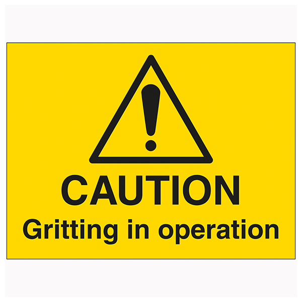 Warning Caution Gritting In Operation