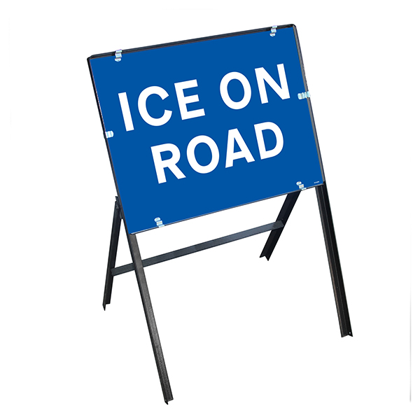Ice On Road with Stanchion Frame
