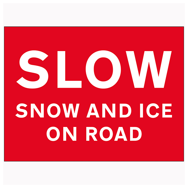 Slow Snow and Ice On Road
