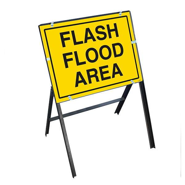 Flash Flood Area with Stanchion Frame