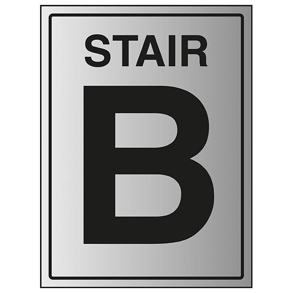 Stair B - Aluminium Effect