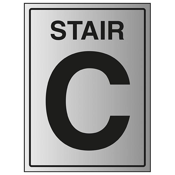 Stair C - Aluminium Effect