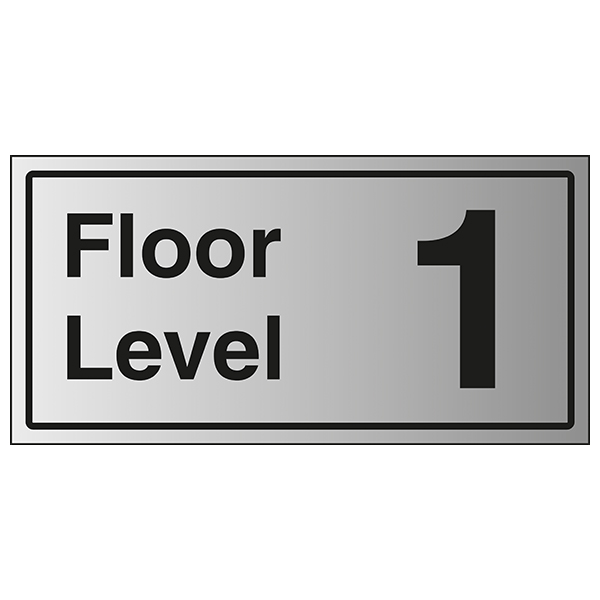 Floor Level 1 - Aluminium Effect