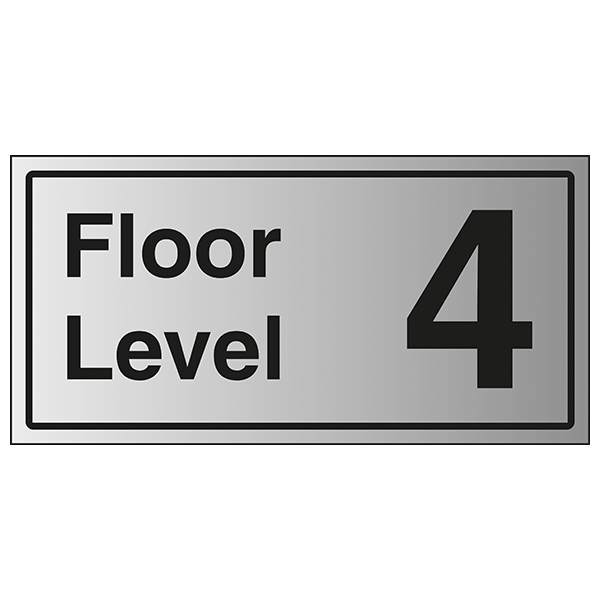 Floor Level 4 - Aluminium Effect