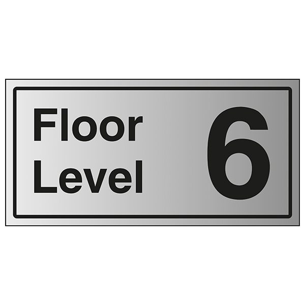 Floor Level 6 - Aluminium Effect