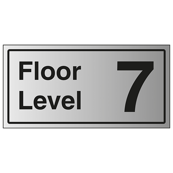 Floor Level 7 - Aluminium Effect
