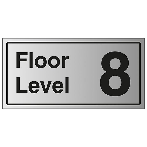 Floor Level 8 - Aluminium Effect