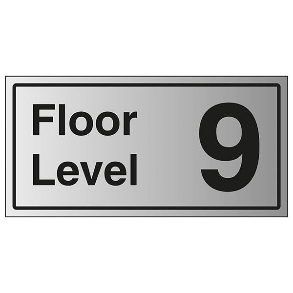 Floor Level 9 - Aluminium Effect