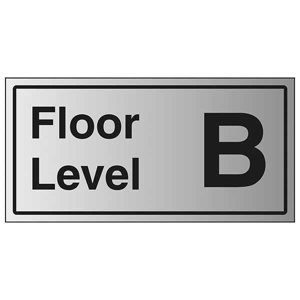 Floor Level B - Aluminium Effect