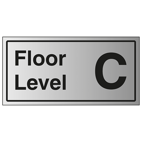 Floor Level C - Aluminium Effect