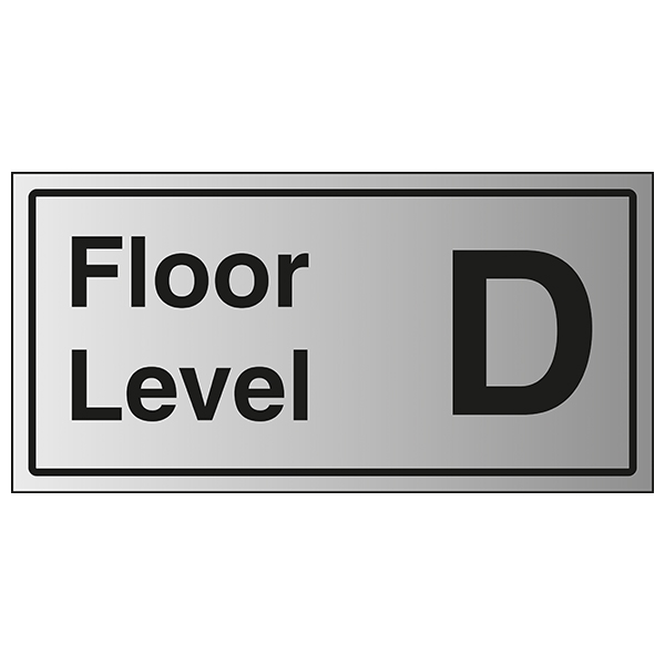 Floor Level D - Aluminium Effect