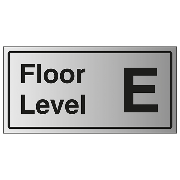 Floor Level E - Aluminium Effect