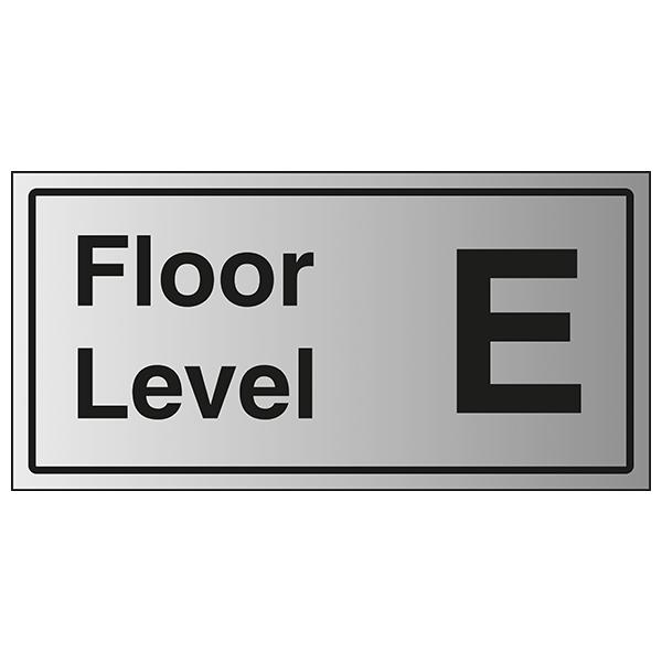 Floor Level E - Aluminium Effect